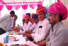 Distribution of pattas of populated land to the villagers in the camp